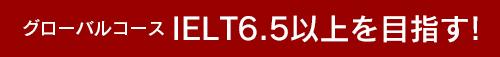 グローバルコースIELT6.5以上を目指す!