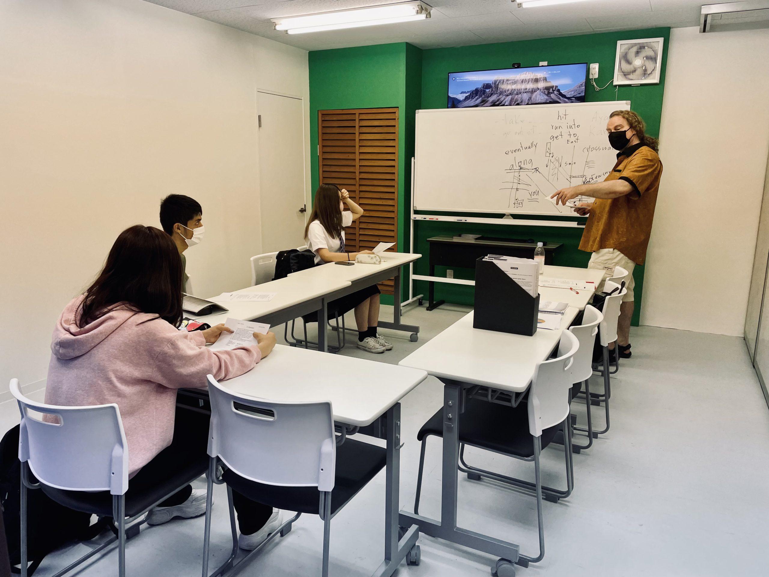 午後の英語授業の様子(IELTS Prep) | 代々木グローバル高等学院[公式]